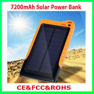 Universal 7200mah Solar Mobile Battery Charger for iphone4/4S/5,Samsung Galaxy S3/Note2/htc/nokia