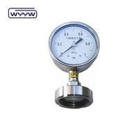 price of pressure indicator diaphragm with flange pressure gauge