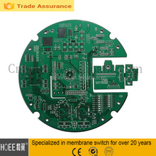 Cheapest custom circuit PCB board with LED and aluminum plate membrane keypad