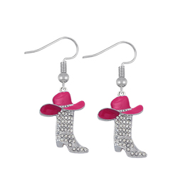Husuru Jewelry Custom Made Western Country Cowboys Hats and Boots Charms Earring For Girls or Boys