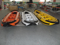 2016 fashion design with one or two people pvc high quality inflatable kayak for sale.
