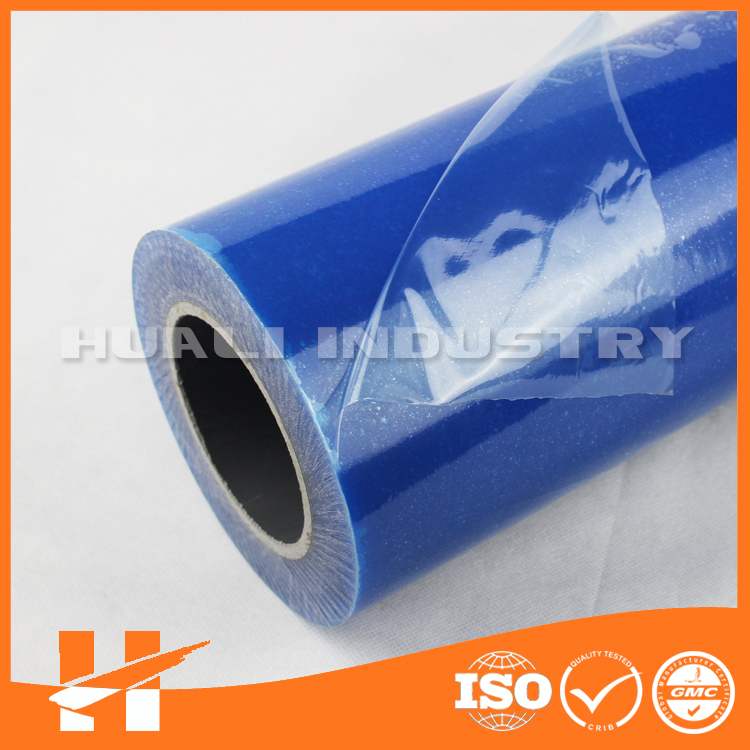 Blue color PE plastic film for stainless steel surface protection