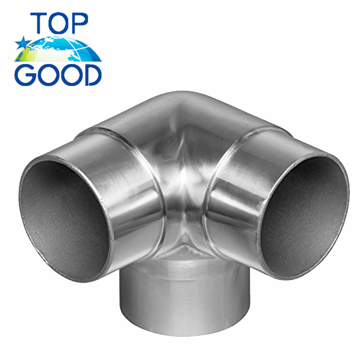 Made in China best quality price 3 way stainless steel Connector Fitting square round pipe tube connector for railing post