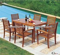 Wood outdoor dining table sets wholesale wood furniture outdoor wood furniture