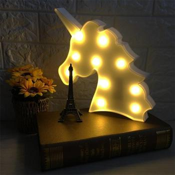 2018 Top Sale Home Decoration Unicorn Table Lamp Night Light Led