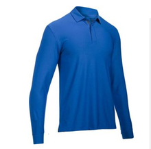 Men's Custom solid color Commercial Polo Shirt with long sleeve