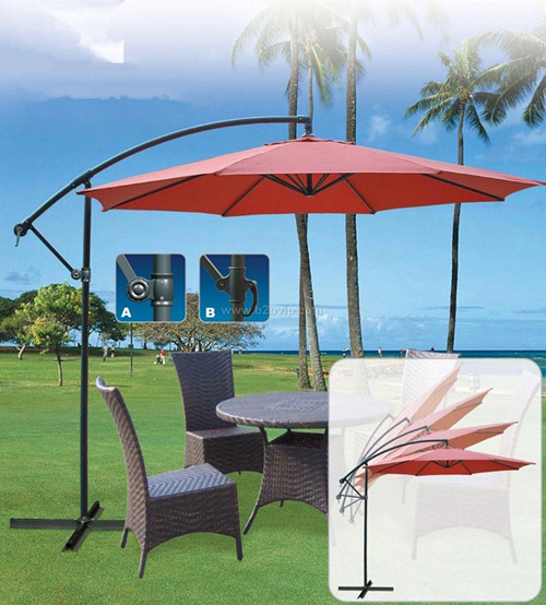 Hanging offset patio umbrella for sale
