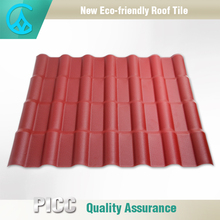 Red / Coffee Brown / Green / Blue Synthetic Spanish Style Roof Tiles