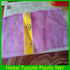 HDPE Round wire plain woven packing garlic mesh bag