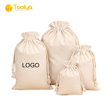 customize wholesale cheapest cotton canvas dust gift cosmetic bag Muslin drawstring shoe bag