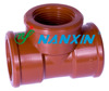 Plumbing pipe fittings PP FEMALE TEE for hot drinking water