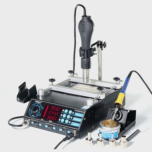 YIHUA 853AAA 3 in 1 digital SMD soldering desoldering hot air gun preheat BGA rework station