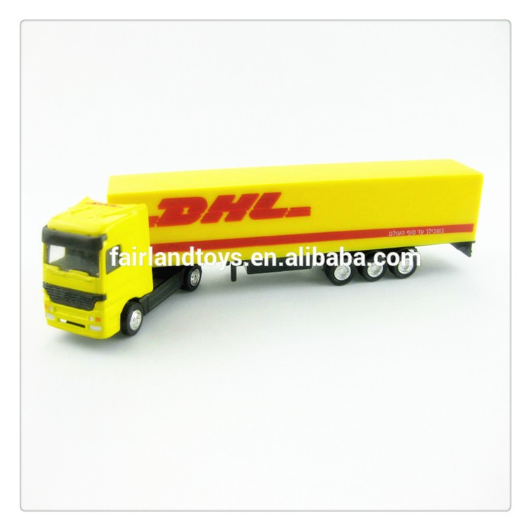 customize scale 1:87 DHL die cast metal MAN truck toy model with container