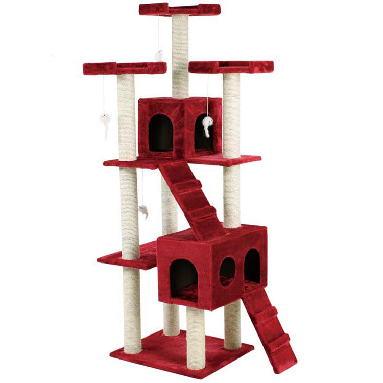 Customized Variety Designs Luxury Pet Supply Wooden Cat Tree Cat Product