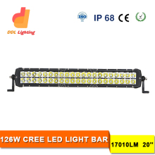50000 hours life time 126w led truck light bar 12v led offroad light for Jeep Wrangler