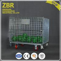 Pet Cap Roll Stacking Steel Heavy Duty Galvanized Wire Mesh Cage