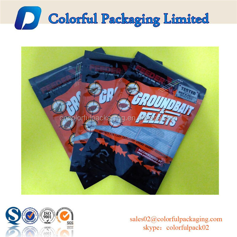 Customized soft plastic bait bags for fishing with zipper