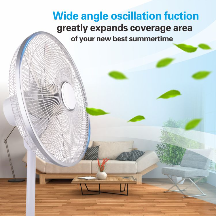2019 New design DC electric adjustable remote control 14/16 inch portable digital Appliance timer floor home stand Pedestal  Fan