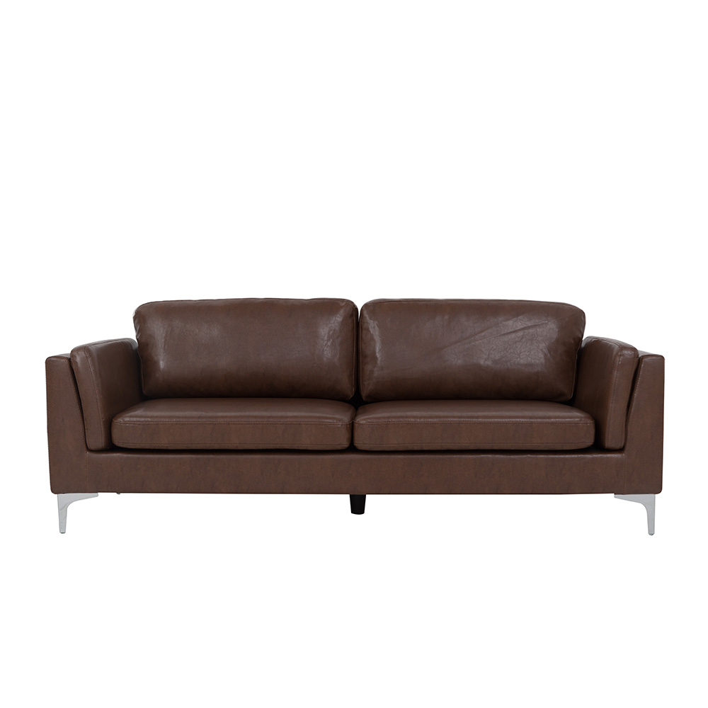 High quality vintage brown PU leather <strong>sofa</strong>