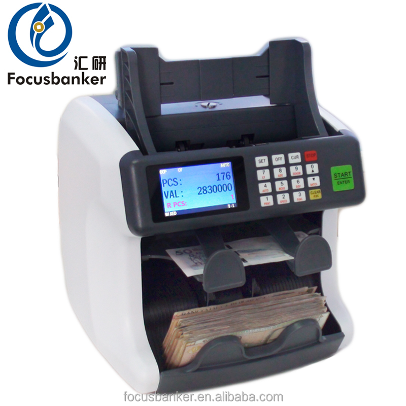 Two pocket bill counter money sorter machine currency sorter banknote sorter