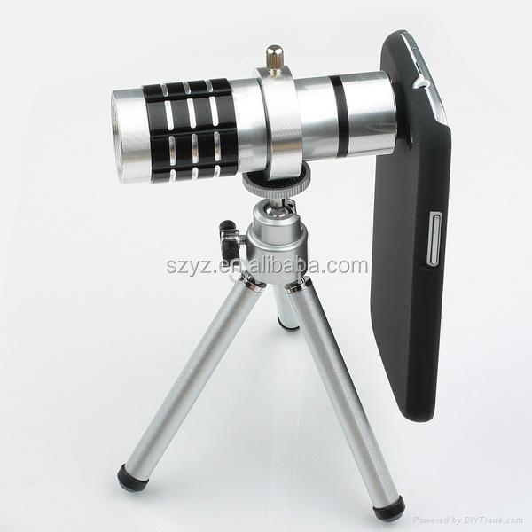 12X Magnification Universal Mobile Phone zoom Telescope Magnifier Optical Camera Lens For smartphone lens