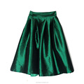 ladies high waist swing dress bright color medium skirt wholesale China garment manufacture