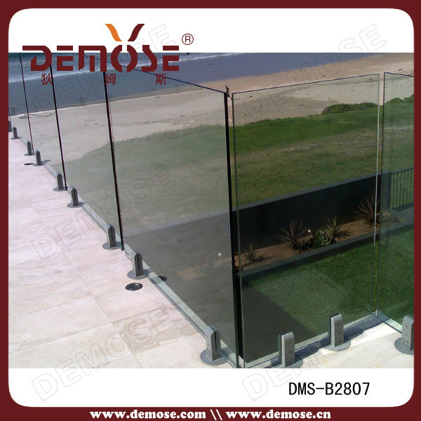Outdoor plexiglass railing panels for fence view for Garden decking glass panels