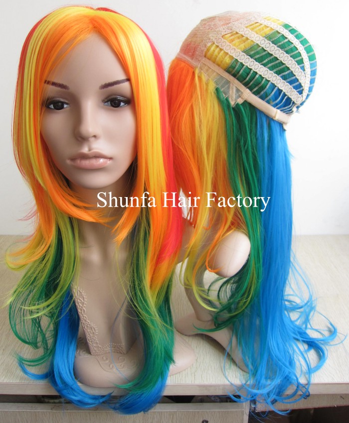 Colorful Synthetic Hair Party Wig /Qingdao Shunfa hair factory