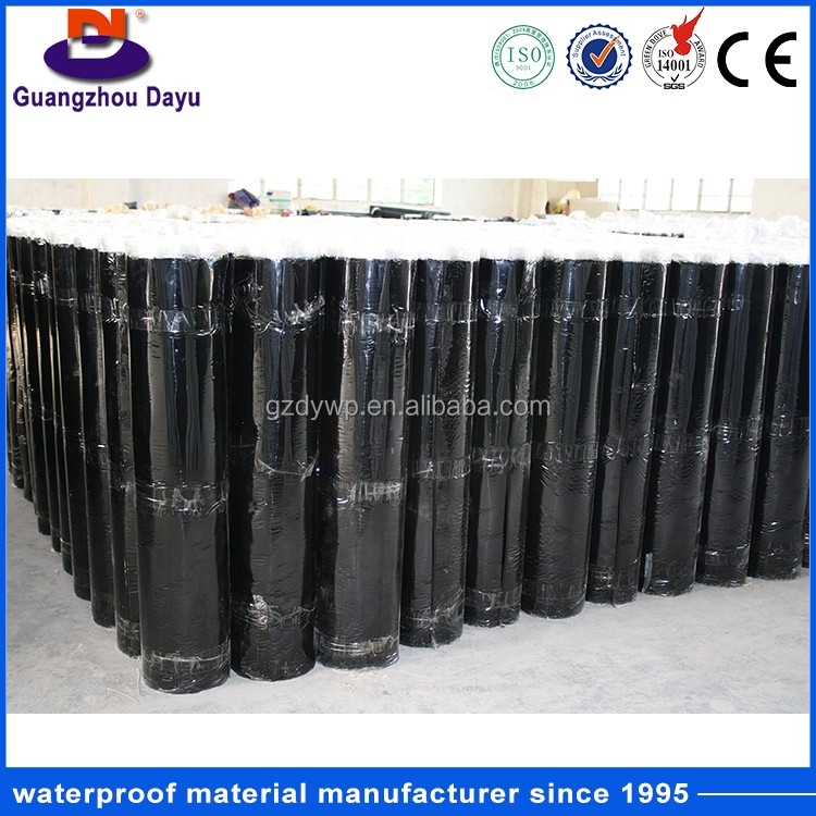 Low Price Basement Projects Materials Self-adhesive Bitumen Waterproof HDPE Membrane
