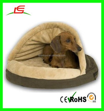 2016 new design pet products brown stuffed plush dog bed cushion