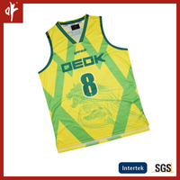 2016 Low MOQ cusutom cheap reversible basketball jersey