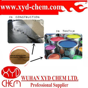 Concrete admixture / mineral binding agent / textile used sodium naphthalene sulfonic acid formaldehyde Na2So4<5%