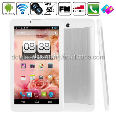 1024*600 HD Phone Call Cheap Dual Core Dual SIM 7 inch 3G Android Phablet