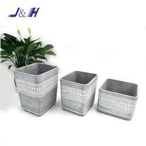 Cement home decorative flower planter cement garden plant pots