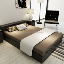 HX-MZ927 18mm thick melamine particle board black platform bed
