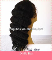 Perfect Quality Silk Top Full Lace Wig for Fashion Ladies Human Hair Wig Body Wave Peruvian Hair Wholesale in Stock