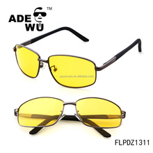 ADE WU Men Stianless Frame Polarized Lenses night vision glasses night driving glasses