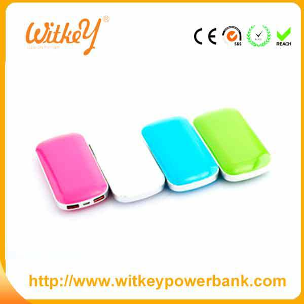 Witkey new model 4400mah power bank customized color
