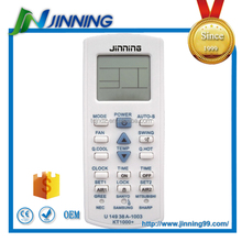 Codes for universal remote for air conditioners, air conditioner remote