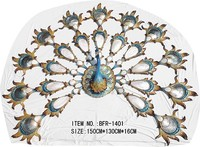 BFR-1401 new arrival bronze peacock wall hanging arts wall decoration