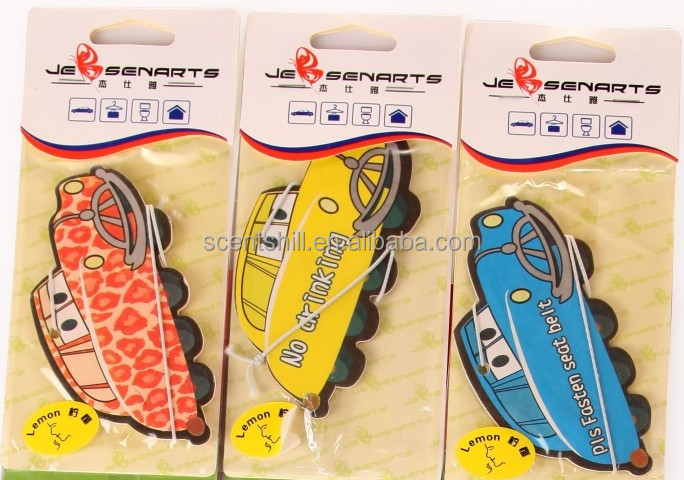 1.8mm/1.9mm/2mm/2.5mm many size for your choice cotton paper in car/dog shape hanging paper air freshener
