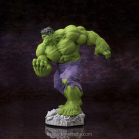 resin sculpture products green hulk clay figure