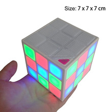 Magic Rubik's Cube USB Mini Speaker Bluetooth 4.0 Build in Microphone, Hands-free Function TF Card Mode for promotion