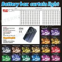D cell battery operated led curtain light