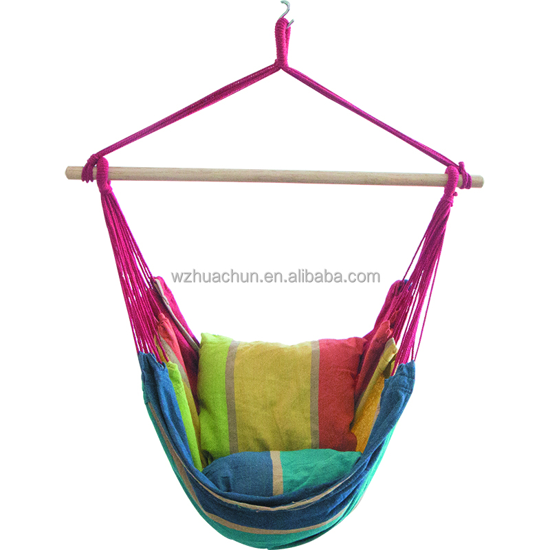 Hanging Rope Hammock Chair Swing Seat For Any Indoor Or Outdoor