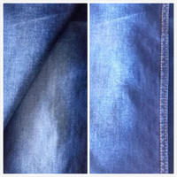 New satin lycal cotton blue super stretch denim jeans fabric