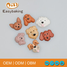 Multi Cute Breed Pet Dogs Shape Cake Decoration Silicone For Gypsum Mold