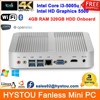 Intel Core i3 5005u Windows 8.1/Ubuntu Best Desktop Compute Fanless Mini ITX Rugged Case WiFi 4G RAM 320G HDD HTPC HDMI OpenELEC