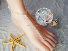 Austria Crystal Beach Wedding Bridal Barefoot Sandals