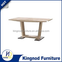 Modern 3D MDF dining tables, Wood table with Oak Paper, pictures of dining table chair